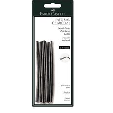 Twigs Natural Charcoal 3-6Mm Card Of 20