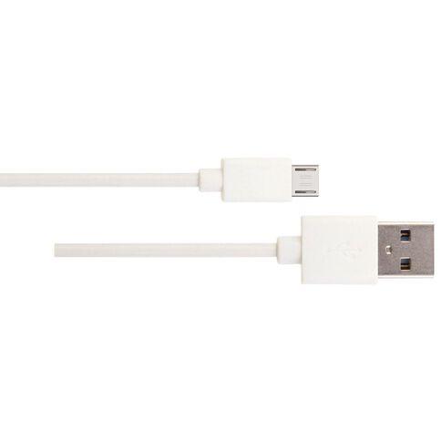 H+O Micro Usb Cable 2.5M White White