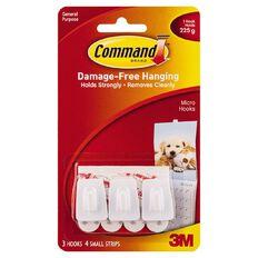 Command Micro Hooks White
