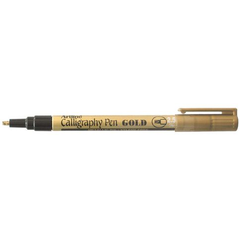 Artline Calligraphic Pen 2.5Mm Gold Gold