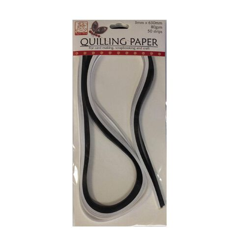 Sullivans Quilling Paper 3Mm Black & White