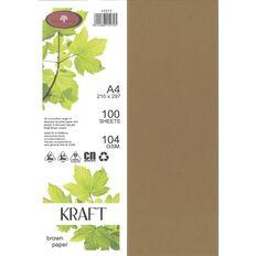 Enviro Paper 104gsm 100 Pack Kraft Brown A4