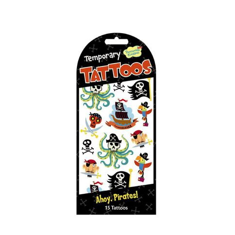 Peaceable Kingdom Stickers Temporary Tattoos Pirates