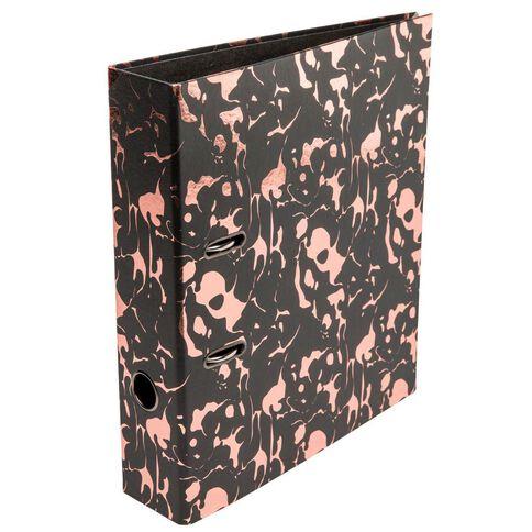 Uniti Rose Gold Lever Arch File Black