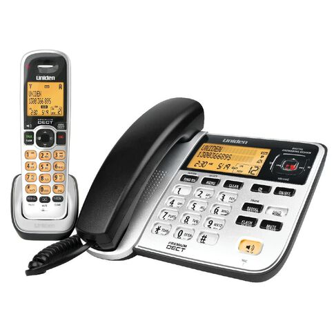 Uniden Dect2145+1 Corded And Cordless Phone Combo