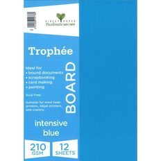 Trophee Board 210gsm 12 Pack Intensive Blue A4