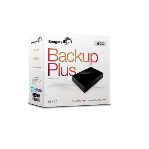 Seagate Backup Plus 4TB Desktop Hard Drive Black