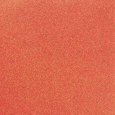 American Crafts Cardstock Glitter Medium 12 x 12 Neon Orange