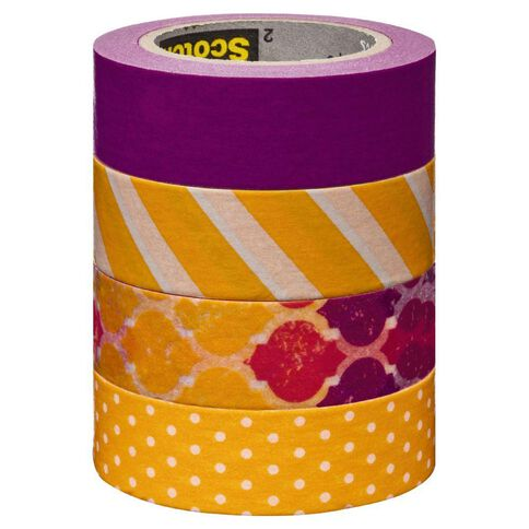 Scotch Washi Craft Tape Multipack Stripes & Dots