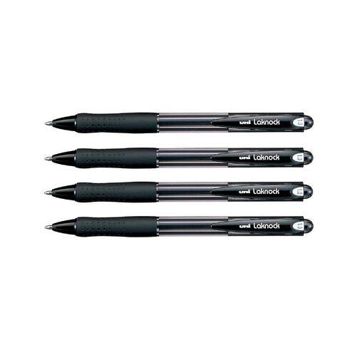 Uni Laknock Medium 4 Pack Black