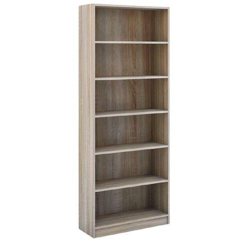 Workspace Soho Wide Bookcase 6 Tier Oak