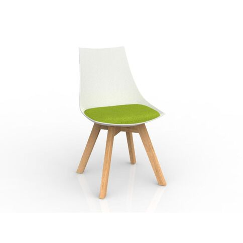 Luna Oak Base Chair White Avacado Green