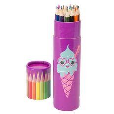 Kookie Ice Cream Colour Pencils 24 Pack Purple Purple