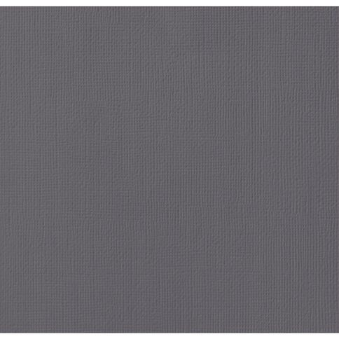 American Crafts Cardstock Textured 12 x 12 Charcoal Grey