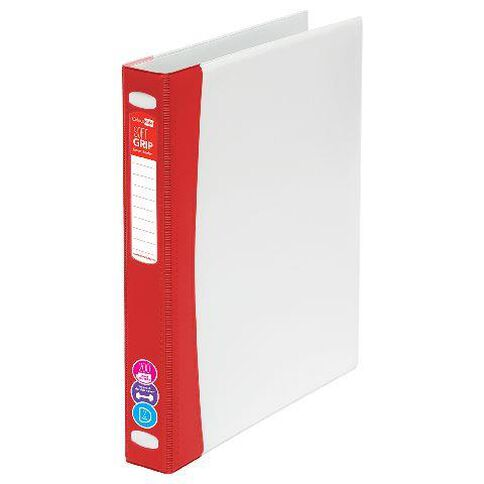ColourHide Softgrip Ringbinder 2D Red
