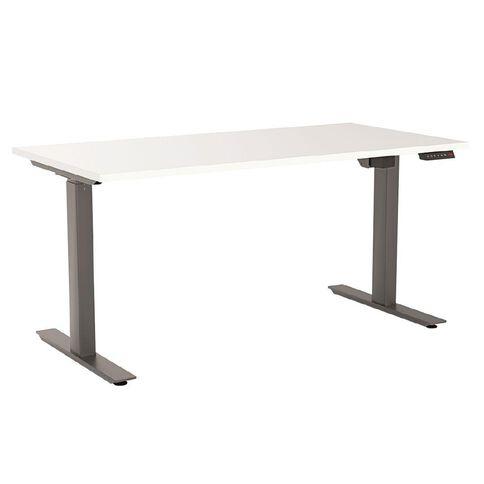 Agile Height Adjustable Electric 1200 Desk White/Black