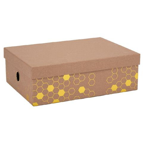 Uniti Bee Natural Kraft A4 Storage Box Brown