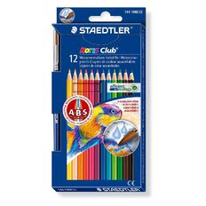Staedtler Noris Club Aquarelle Col Pencils 12 Pack