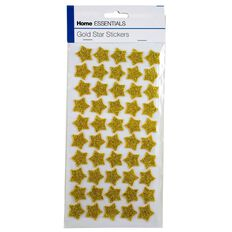 Home Essentials Star Stickers Gold