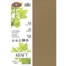 Enviro Paper 104gsm 25 Pack Kraft Brown A4