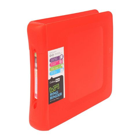 ColourHide Tuff Ringbinder 2D Red A4