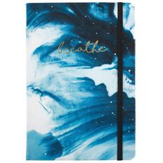Uniti Breathe Faux Leather Notebook Navy A5