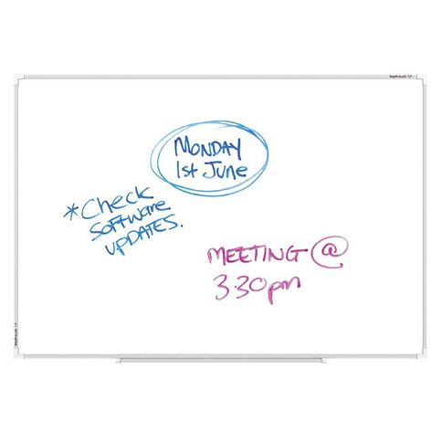 Boyd Visuals Lacquered Whiteboard 1500 x 1200mm White