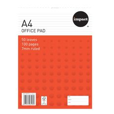 Impact Pad 80gsm 7mm 50 Leaf White