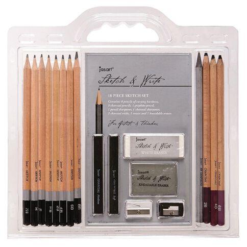 Jasart Sketch & Write Set 18 Pieces