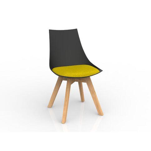 Luna Oak Base Chair Black Bumblebee Yellow