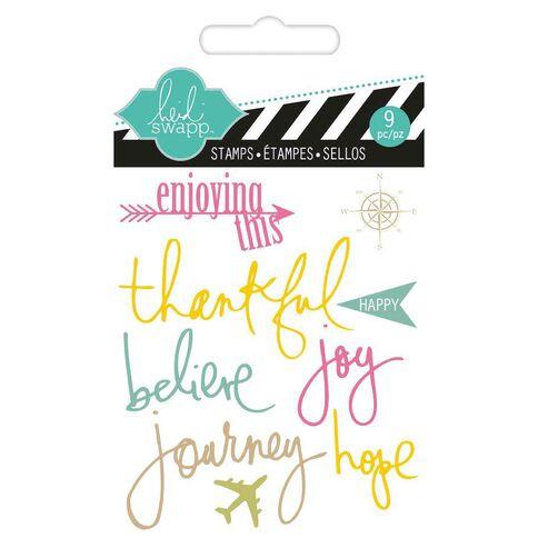 Heidi Swapp Stamps Small Journey Multi-Coloured