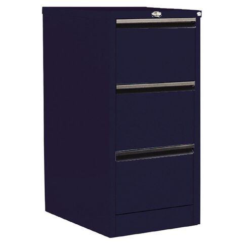 Precision Classic Filing Cabinet 3 Drawer Midnight Blue