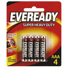 Eveready Super Heavy Duty Batteries AAA 4 Pack