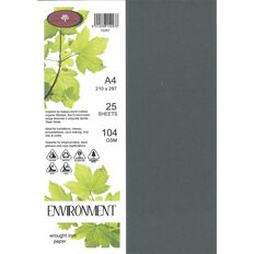 Enviro Paper 104gsm 25 Pack Wrought Iron Grey A4