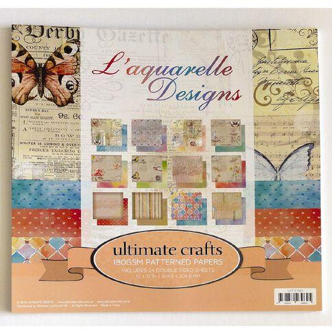 Ultimate Crafts Laquarelle Paper Pad 12 x 12