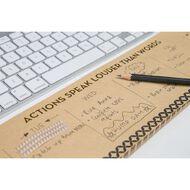 Uniti Natural Glam Keyboard Weekly Planner Brown