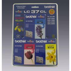 Brother Ink Cartridge LC37 3 Pack Multi-Coloured
