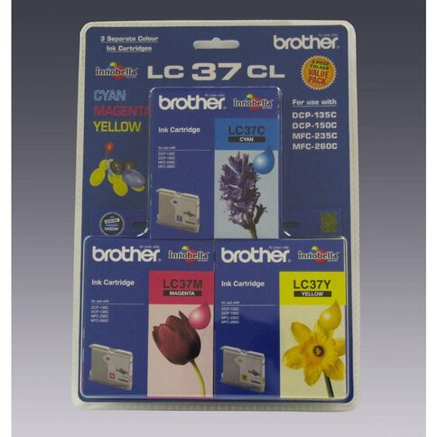 Brother Ink Cartridge LC37 3 Pack