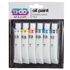U-Do 12ml Oil Paint 6 Pack