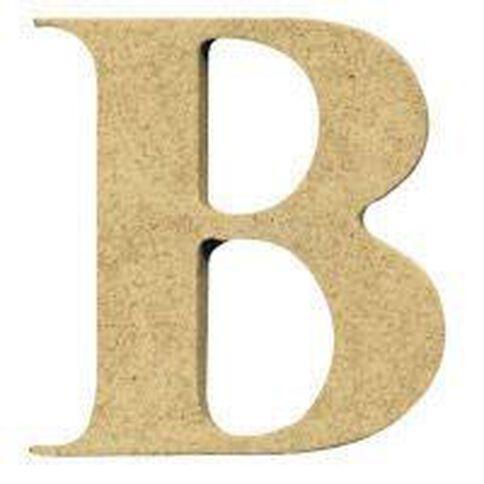 Sullivans Mdf Board Alphabet Letter 17cm B Brown