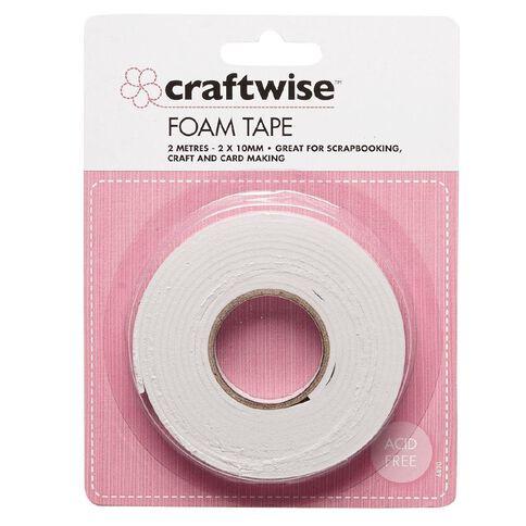 Craftwise Foam Tape 2mm x 10mm x 2m White
