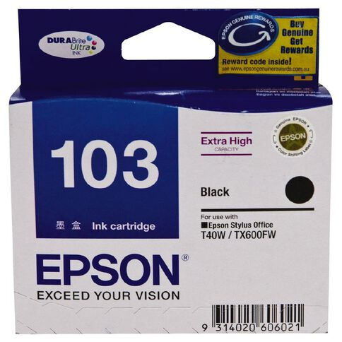 Epson Ink Cartridge T103 Black