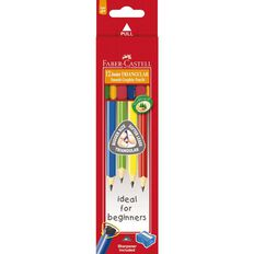 Faber-Castell Junior Triangular Pencils 2B Box of 12 Multi-Coloured