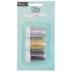 Art Wrap Paper Craft Glitter 3 Pack Formal Multi-Coloured