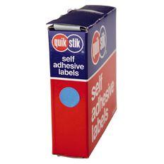 Quik Stik Labels Dots Mc14 1050 Pack Blue