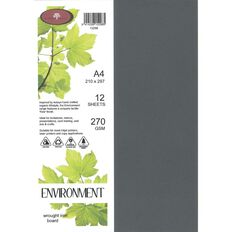 Enviro Board 270gsm 12 Pack Wrought Iron Grey A4