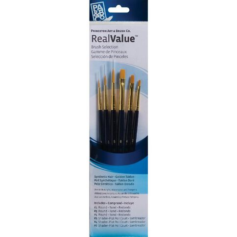 Brush Gold Taklon Round 1 3 5 Real Value Set