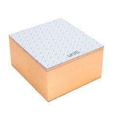 Uniti Rose Gold Memo Cube Block Gold