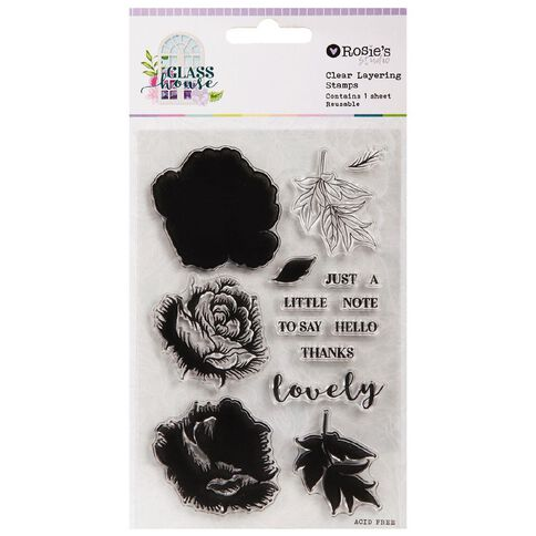 Rosie's Studio Glasshouse Clear Stamps