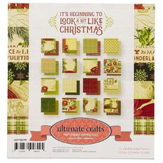 Ultimate Crafts Christmas Beginning Paper Pad 6in x 6in